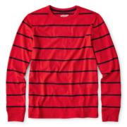 Arizona Long-Sleeve Striped Knit Gym Tee – Boys 6-18