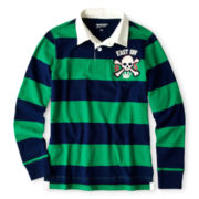 Arizona Long-Sleeve Striped Knit Rugby Polo - Boys 6-18
