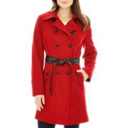 a.n.a® Double-Breasted Belted Wool-Blend Coat - Talls