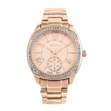 jcpenney.com | Geneva Womens Rose Goldtone Bracelet Watch-Pt2271rg