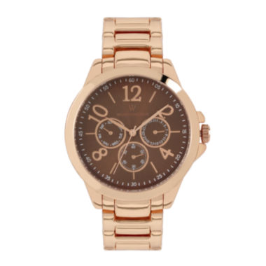 jcpenney.com | Worthington Womens Rose Goldtone Bracelet Watch-Wt00008-03