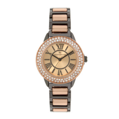 jcpenney.com | Worthington Womens Two Tone Bangle Watch-Wt00030-01