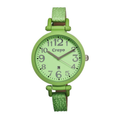 jcpenney.com | Crayo Womens Balloon Mint Leather-Band Watch With Date Cracr0603