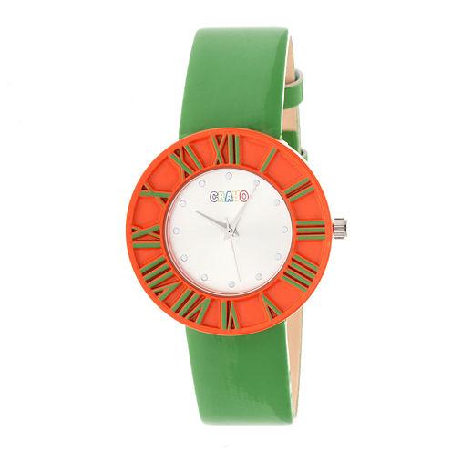 Crayo Prestige Green Strap Watch