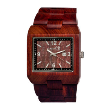 jcpenney.com | Earth Wood Rhizomes Red Bracelet Watch With Date Ethew1203