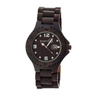 jcpenney.com | Earth Wood Raywood Dark Brown Bracelet Watch With Date Ethew1702