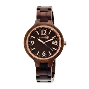 jcpenney.com | Earth Wood Nodal Dark Brown Bracelet Watch With Date Ethew2002