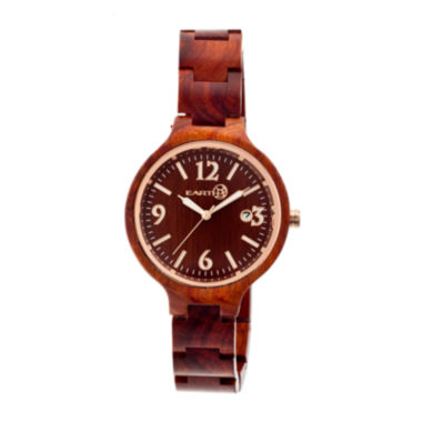 jcpenney.com | Earth Wood Nodal Red Bracelet Watch with Date ETHEW2003