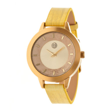 jcpenney.com | Earth Wood Autumn Yellow Strap Watch ETHEW3001