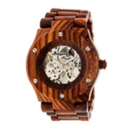 Earth Wood Grand Mesa Automatic Red Bracelet Watch ETHEW3103