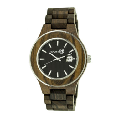 jcpenney.com | Earth Wood Cherokee Dark Brown Bracelet Watch with Date ETHEW3402