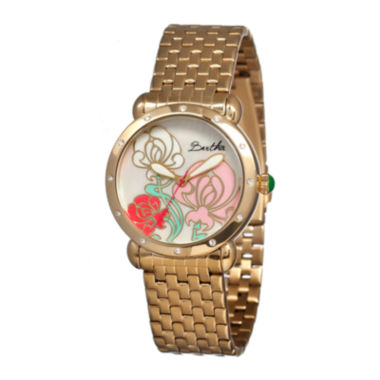 jcpenney.com | Bertha Josephine Womens Mother Of Pearl Dial Gold Tone Bracelet Watch Bthbr1502