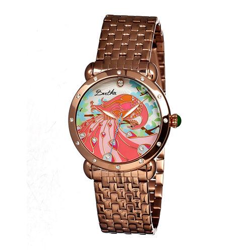 Bertha Didi Womens Mother Of Pearl Rose Gold Tone Bracelet Watch Bthbr2803