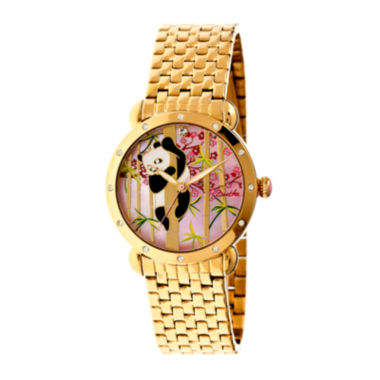 jcpenney.com | Bertha Lilly Womens Mother Of Pearl Dial Gold Tone Bracelet Watch Bthbr4502