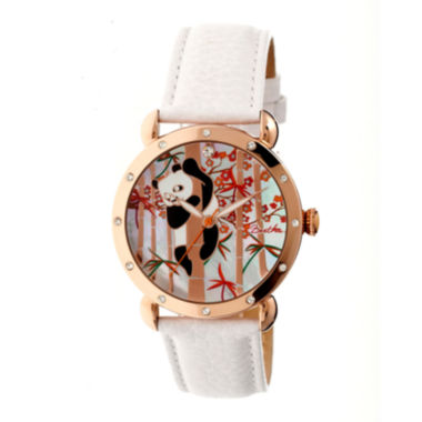 jcpenney.com | Bertha Lilly Womens Mother Of Pearl Dial White Leather Strap Watch Bthbr4509