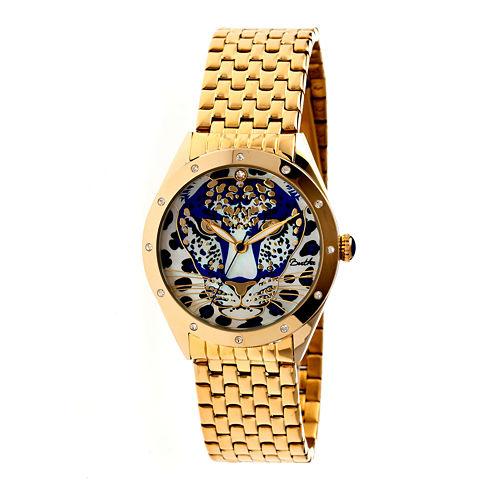 Bertha Alexandra Womens Gold Tone Blue Dial Bracelet Watch Bthbr4702