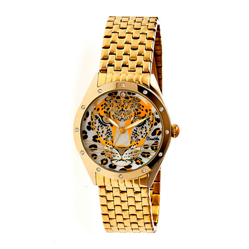 Bertha Alexandra Womens Gold Tone Yellow Dial Bracelet Watch Bthbr4703
