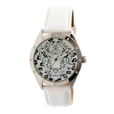 jcpenney.com | Bertha Alexandra Womens Mother Of Pearl Dial White Leather Strap Watch Bthbr4705