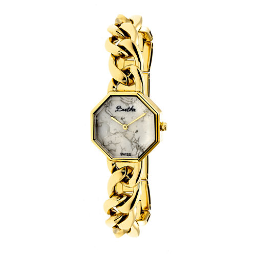 Bertha Womens Ethel Stone-Dial Swiss Gold Bracelet Watchbthbr5802