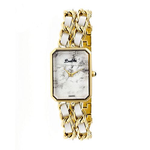 Bertha Womens Rachel Mother-Of-Pearl Silver Bracelet Watchbthbr1402