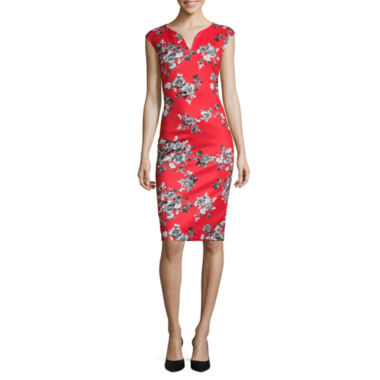 jcpenney.com | Weslee Rose Cap-Sleeve Floral-Print Midi Dress