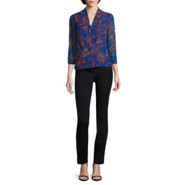 jcpenney.com | Liz Claiborne® 3/4-Sleeve Wrap Top or Bi-Stretch Emma Pants - Tall