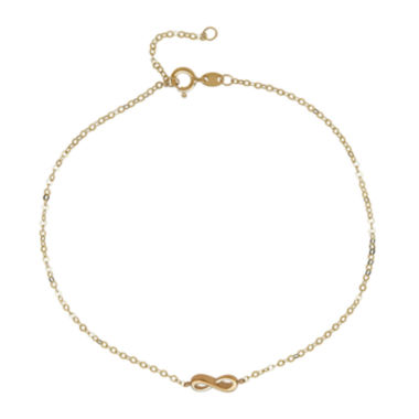 jcpenney.com | 14K Yellow Gold Infnity Ankle Bracelet