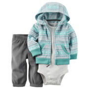 Carter's Boys 3 pc Layette Set-Baby 0-24 Months