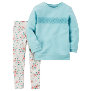 jcpenney.com | Carter's Girls 2-pc. Long Sleeve Pant Set-Baby