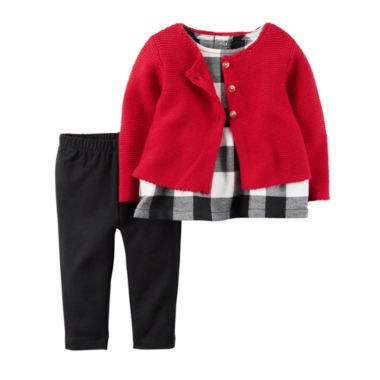 jcpenney.com | Carter's Girls 3-pc. Long Sleeve Pant Set-Baby