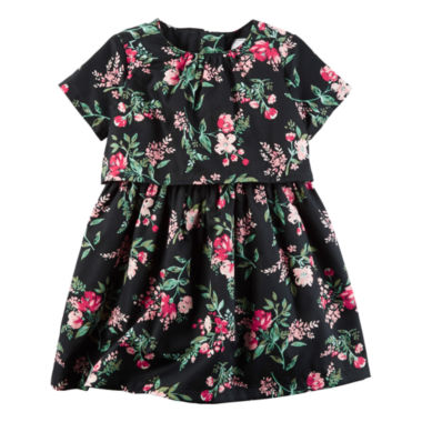 jcpenney.com | Carter's Long Sleeve A-Line Dress - Baby Girls
