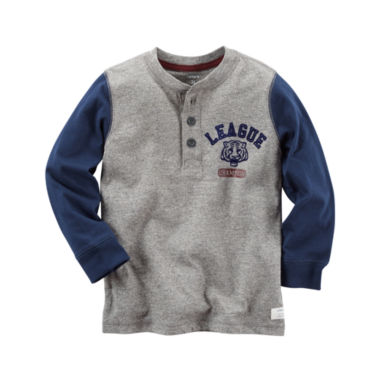 jcpenney.com | Carter's Long Sleeve Henley Shirt - Preschool Boys
