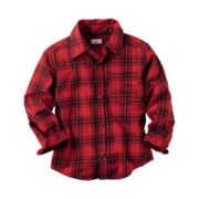 Carter's Boys Long Sleeve Button-Front Shirt