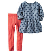 Carter's Girls Long Sleeve Pant Set