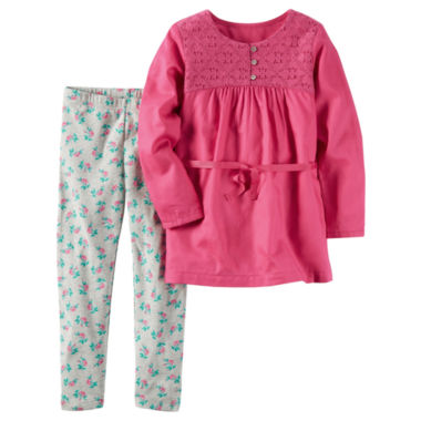 jcpenney.com | Carter's Girls Long Sleeve Pant Set-Preschool