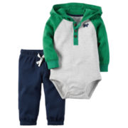 Carter's® 2-pc. Green Bodysuit Pants Set - Baby Boys newborn-24m