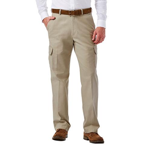 Haggar® Stretch Comfort Cargo Classic-Fit Flat-Front Pants