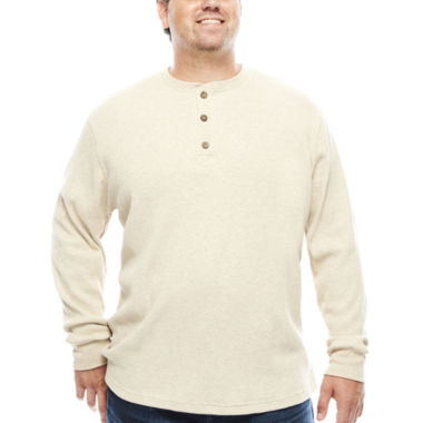 jcpenney.com | The Foundry Big & Tall Supply Co.™ Long-Sleeve Waffle Henley Shirt
