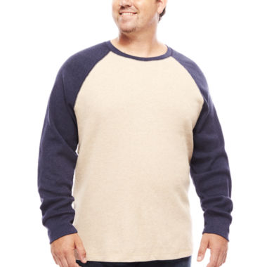 jcpenney.com | The Foundry Big & Tall Supply Co.™ Long-Sleeve Waffle-Weave Shirt