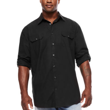 jcpenney.com | The Foundry Big & Tall Supply Co.™ Long-Sleeve Modern Roll-Tab Shirt