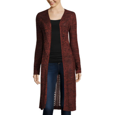 jcpenney.com | It's Our Time Long-Sleeve Open-Front Long Cardigan - Juniors