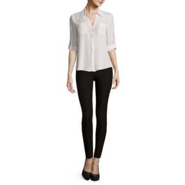 jcpenney.com | by&by Long-Sleeve Crepe Roll-Tab Button-Front Blouse or Millennium Skinny Pants