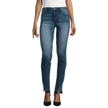jcpenney.com | Arizona Twisted-Seam Released-Hem Cropped Jeans - Juniors