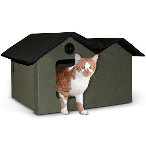 """K & H Manufacturing Outdoor Kitty House Extra-Wide unheated, 26.5"""" x 15.5"""" x 21.5"""""""