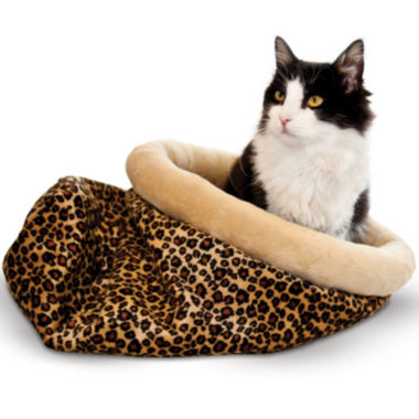 "jcpenney.com | K & H Manufacturing Self-Warming Kitty Sack - Leopard, 15"" x 18"""