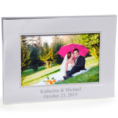 jcpenney.com | Cathy's Concepts Horizontal Beaded Silver Picture Frame