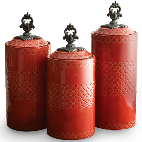 Jay Imports Red 3-pc. Canister