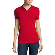 Polo shirts tops for women jcpenney for Jcpenney ladies polo shirts