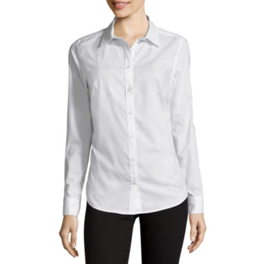 jcpenney.com | St. John's Bay® Long-Sleeve Wrinkle-Free Shirt