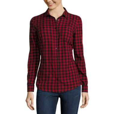 jcpenney.com | St. John's Bay® Long-Sleeve Brushed Twill Shirt